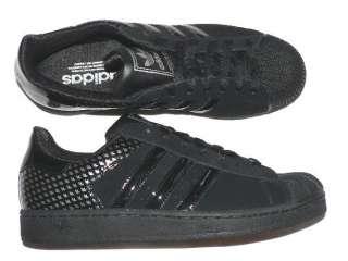 adidas superstar 2 ~ nero / bianco / nero nabuk - nuova in scatola - mens