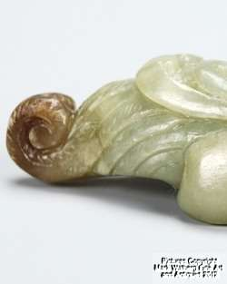 Chinese Nephrite Jade Carving of Mythical Creature, 19th Century