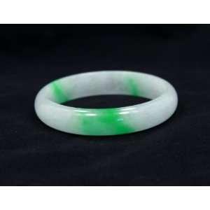 Natural Burmese Icy Jadeite Old Jade Bangle Beautiful Vivid Green and