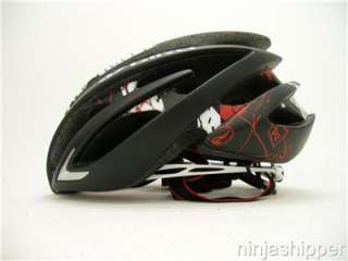 2012 Giro Aeon Matte Black with Red Explosion Bicycle Helmet   Large