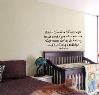 KIDS WALL ART STICKER BABY ROOM NURSERY BOY GIRL BEDROOM FUNNY BEATLES