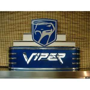 Dodge Viper Automobile Neon Garage Sign   Nascar Cars