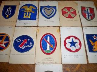 Lot 11 US Army Patches WW2 Air Force Military