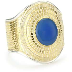 Anna Beck Designs Gili Large Blue Chalcedony Cuff Bracelet