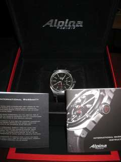 NEW! Alpina Racing GT3 Automatic Mens Small Seconds Date Watch! AL