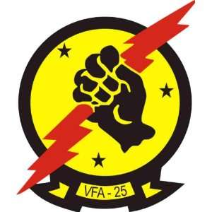 US Navy VFA 25 Fist of the Fleet Squadron Decal Sticker 3