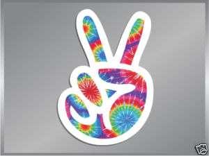 PEACE Sign Fingers Tie Dye vinyl decal sticker 4