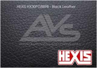 HEXIS Black Leather Vinyl Wrap Decal Film Sheet   15ft x 4.5ft