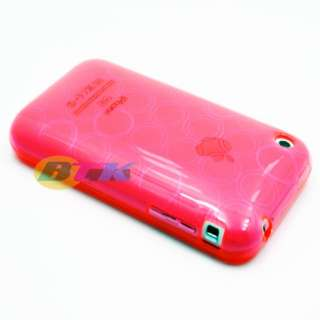 Pink Soft TPU Silicone Hard Case Cover iPhone 3G 3GS