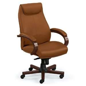 Venture High Back Leather Executive Chair Black Leather