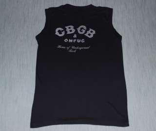 VTG CBGB OMFUG HOME OF UNDERGROUND ROCK SHIRT 1980S M