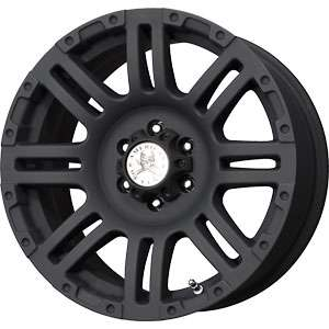 New 20X9 8 180 American Outlaw Bunker Matt Black Wheels/Rims