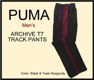 Mens $55 Black PUMA ARCHIVE T7 Track Training PANTS XL