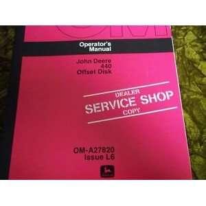 John Deere 440 Offset Disk OMA27820 Issue L6 OEM OEM