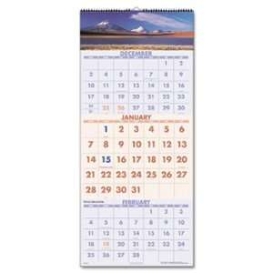 Scenic 3 month Wall Calendar, 12 1/4 X 27, 2011 2013: Office Products