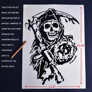 15 S.O.A. Sons of Anarchy Die Cut Decal Sticker vinyl samcro grim