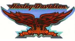 Harley Davidson Black Orange Eagle Logo Decal Stickers