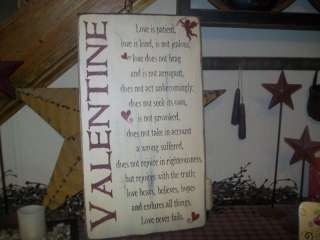 PRIMITIVE VALENTINE SIGN~~LOVE SAYING~~CUPID~~PATIENT~~