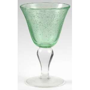 Artland Crystal Iris Light Green Wine Glass, Crystal
