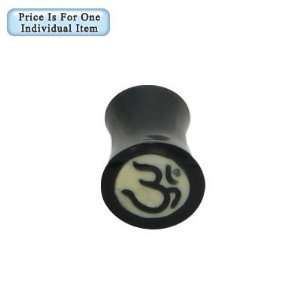 Aum Symbol Bone Ear Plug   IPL10: Jewelry