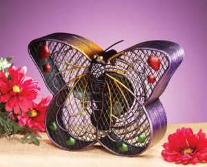 Functional Table Art Deco BUTTERFLY FAN by Deco Breeze