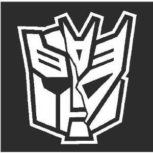 Autobot / Deceptacon Transformer Sticker Decal White 5.5