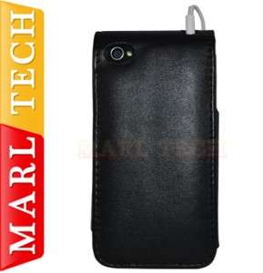 APPLE LOGO LEATHER FLIP CASE COVER POUCH FOR IPHONE 4