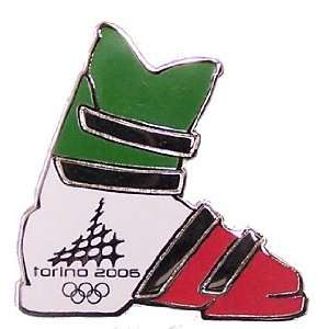 Torino 2006 Olympics Italian Flag Ski Boot Pin Sports