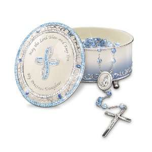 Blessed Daughter Musical Rosary Box With Rosary: Christian