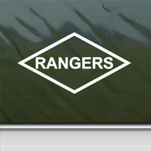 US Army Rangers Lozenge Patch Style White Sticker Laptop Vinyl White