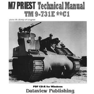 M7 Priest Technical Manual TM9 731E **C1 PDF CD (M7 Priest