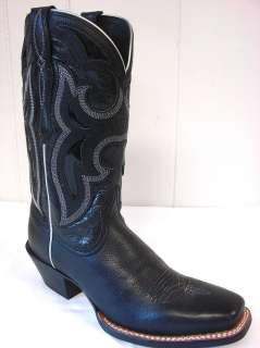 SZ 7 B NEW ARIAT WOMENS WESTERN WEAR LEATHER COWBOY BOOTS #16885 BLACK