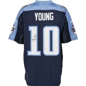 Mounted Memories Tennessee Titans Vince Young Signed