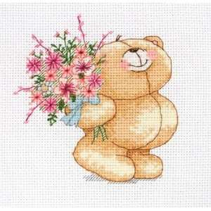 Floral Bouquet   Forever Friends Cross Stitch Kit: Arts