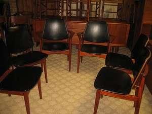 DANISH MODERN ARNE HOVMAND OLSEN TEAK Dining Chairs