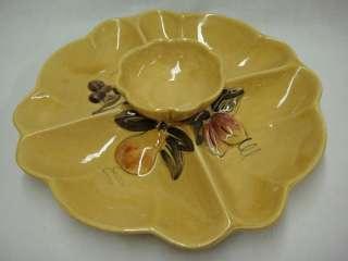 California Los Angeles Pottery Yellow Relish Dip Tray 719812601137