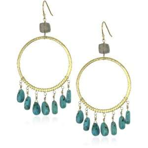 Leslie Danzis 14k Gold Vermeil Turquoise Earrings Jewelry