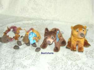 Disney Brother Bear BEAN bag plush KODA KENAI TUKE RUTT