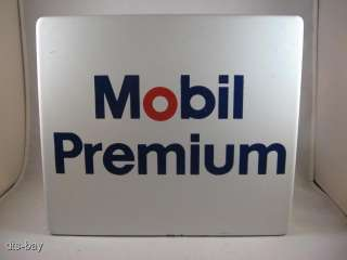 Vintage Porcelain Mobile Premium Gasoline Gas Pump Station Advertising