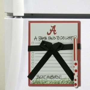 Tide Magnetic A Bama Fans To Do List & Pen Set