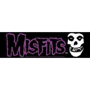 THE MISFITS BAND LOGO & FIEND SKULL STICKER: Home
