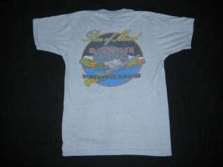 ORIGINAL IRON MAIDEN 1983 WORLD PIECE TOUR T SHIRT VTG
