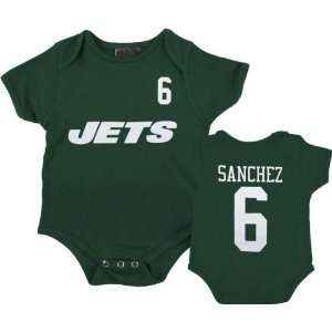 New York Jets Infant Green Reebok Mark Sanchez Name & Number