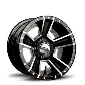 Fairway Alloys 113 Renegade Machined Black Golf Cart Wheel