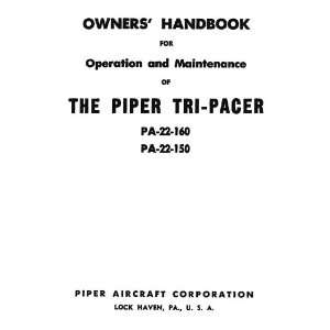 Piper Aircraft Pa 22 Tri Pacer Owners Handbook Manual