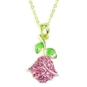Flower Charm Pendant Necklace Elegant Trendy Fashion Jewelry: Jewelry