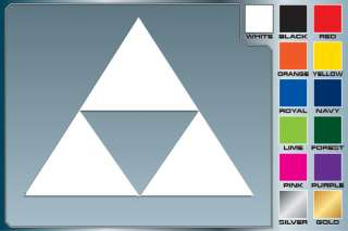 The Legend of Zelda TRIFORCE Logo cut vinyl decal #2