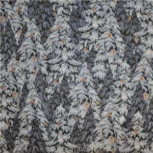 HALF YARD Cranston CHRISTMAS TREE Holiday SNOWY PINE EVERGREEN Fabric