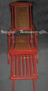 French Line ss Normandie Deck Chair with CGT Cushion