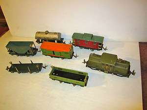 Lionel O Freight Train Set Pre War 252 Elec Locomotive 805 Box Car 803